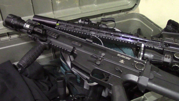 Airsoft Rifles (2): Airsoft rifles fire 6mm plastic BBs. They are usually powered by gas or an electric motor.