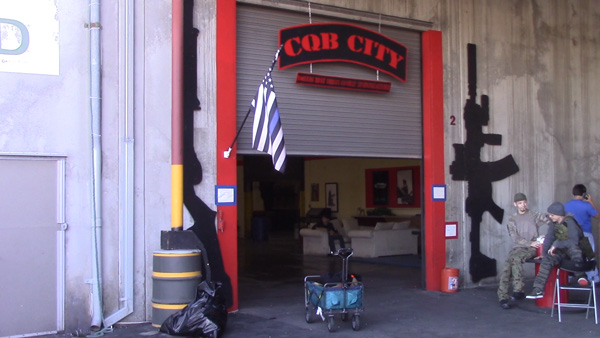 CQB City Entrance: Players often hang out around the entrence to cool off and get some fresh air.